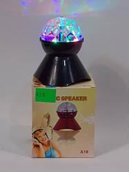 Mini speaker зі світловим кулею A18