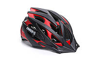 Шолом велосипедний ONRIDE Cross M Black red (55-58 см)