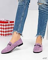 Туфли женские с декором лиловые