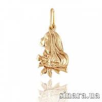 Золотая подвеска знак зодиака Дева 361
