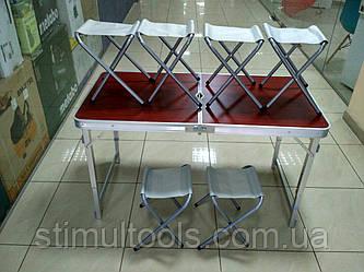 Стіл ПОСИЛЕНИЙ для пікніка + 6 стільців