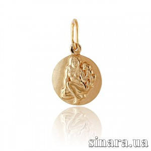 Золотая подвеска знак зодиака Дева 364