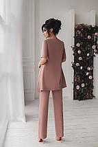 Нарядный женский костюм двойка брюки с туникой sh-001 (42-54р, разные цвета), фото 2