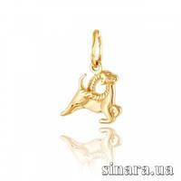 Золотая подвеска знак зодиака Козерог 382