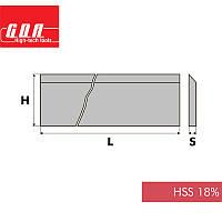 Нож фуговальный HSS18% L640 H30 S3, фото 1