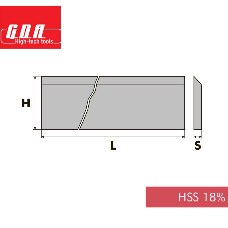 Нож фуговальный HSS18% L640 H35 S3