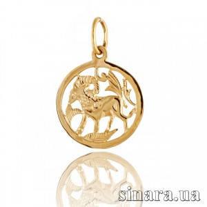 Золотая подвеска знак зодиака Козерог 385