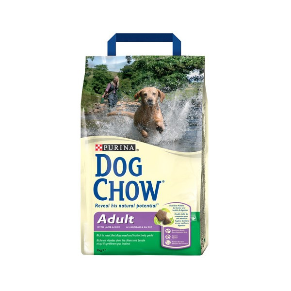 Dog Chow Adult Lamb - сухой корм для собак 14 кг