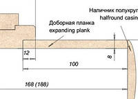 Доборная доска ПВХ 100мм