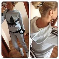 Женский спортивный костюм Adidas с капюшоном , фото 1