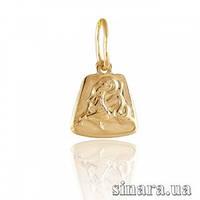 Золотая подвеска знак зодиака Козерог 386