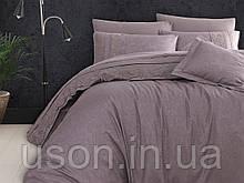 Комплект постельного белья сатин Moonlight first choice евро размер April leylak