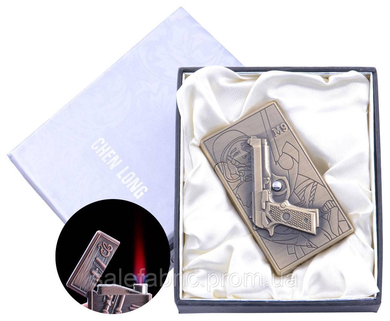 Зажигалка электронная в подарочной коробке M9 (Турбо пламя) №4060-3