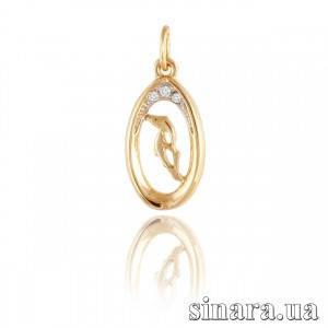 Золотая подвеска знак зодиака Козерог 389