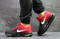 Мужские кроссовки в стиле Nike Air Max 2017 Черные с красным