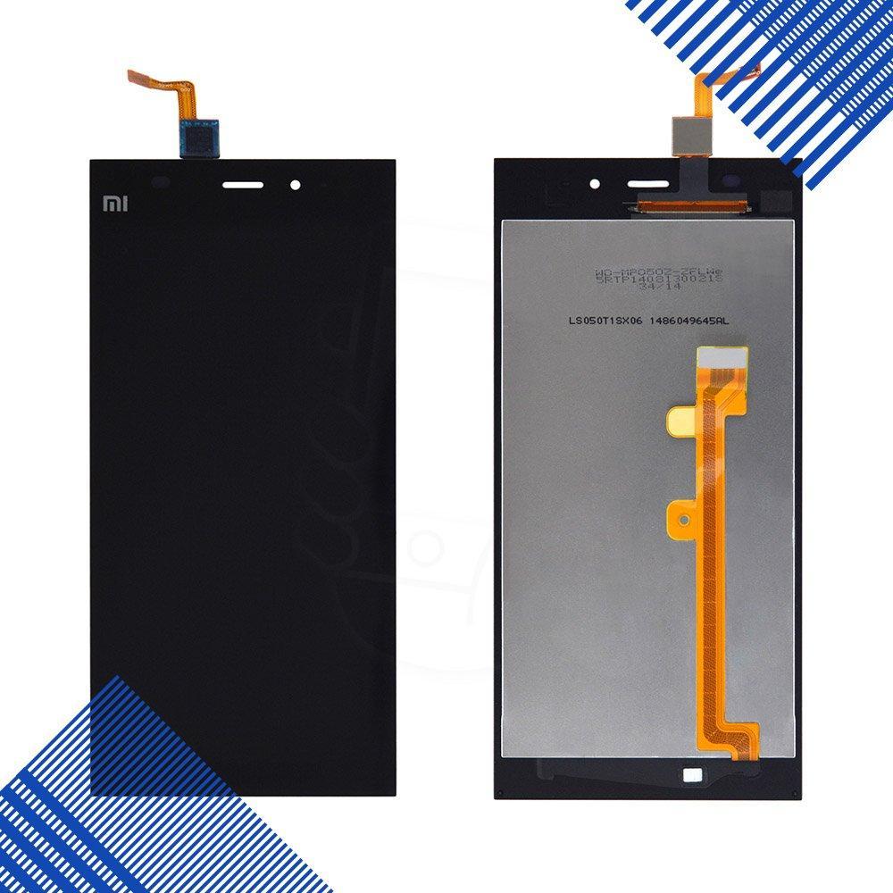 Дисплей Xiaomi Mi3 с тачскрином в сборе, цвет черный, уценка