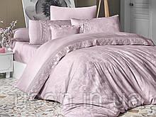 Комплект постельного белья сатин Moonlight first choice евро размер Buhara pudra