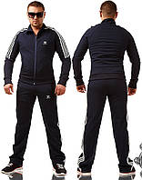 Мужской спортивный костюм Adidas \ темно-синий