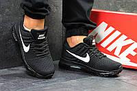 Мужские кроссовки в стиле Nike Air Max 2017 Черные с белым