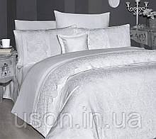 Комплект постельного белья сатин Moonlight first choice евро размер Hillary beyaz