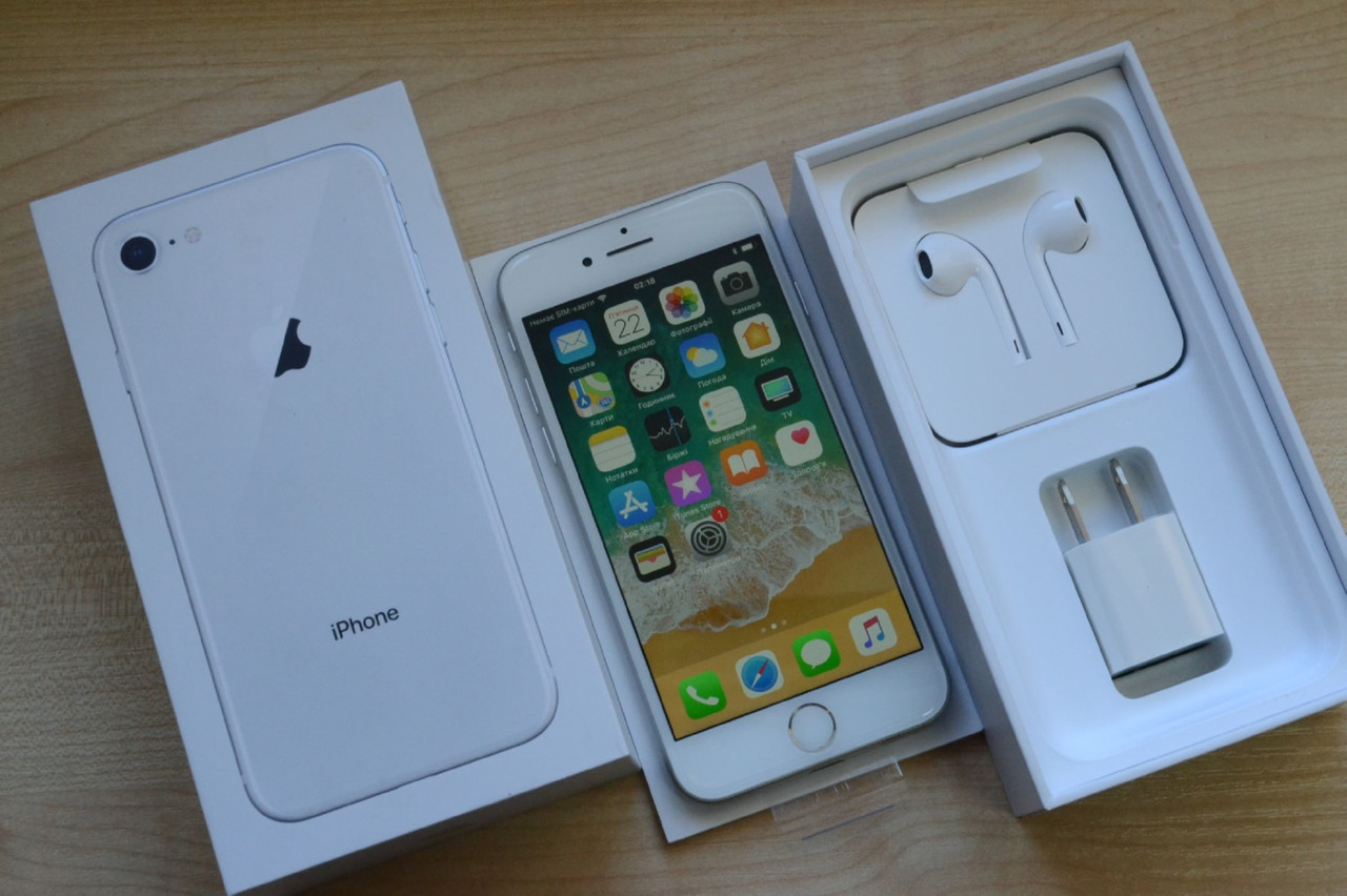 Новый Apple Iphone 8 256Gb Silver Оригинал!, фото 1