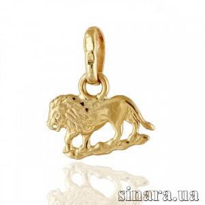 Золотая подвеска знак зодиака Лев 1420