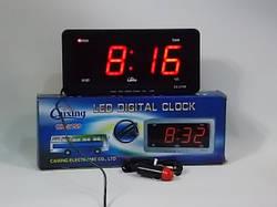 Годинники електронні Caixing CX 2159 + машинна зарядка (LED індикація)