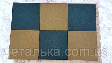 Гумова плитка 400*400 мм. товщина 10 мм, фото 2