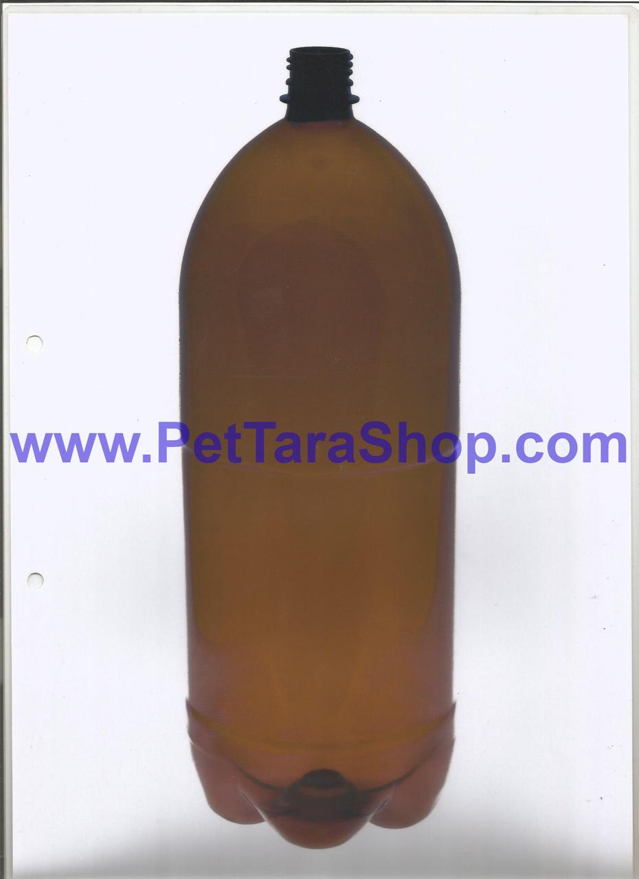 Пластикова Пляшка ПЕТ Коричнева 3 Л з кришкою та ручкою