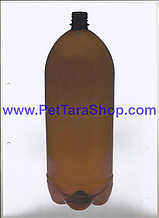 Пластиковая Бутылка ПЭТ Коричневая 3 Литра с крышкой и ручкой
