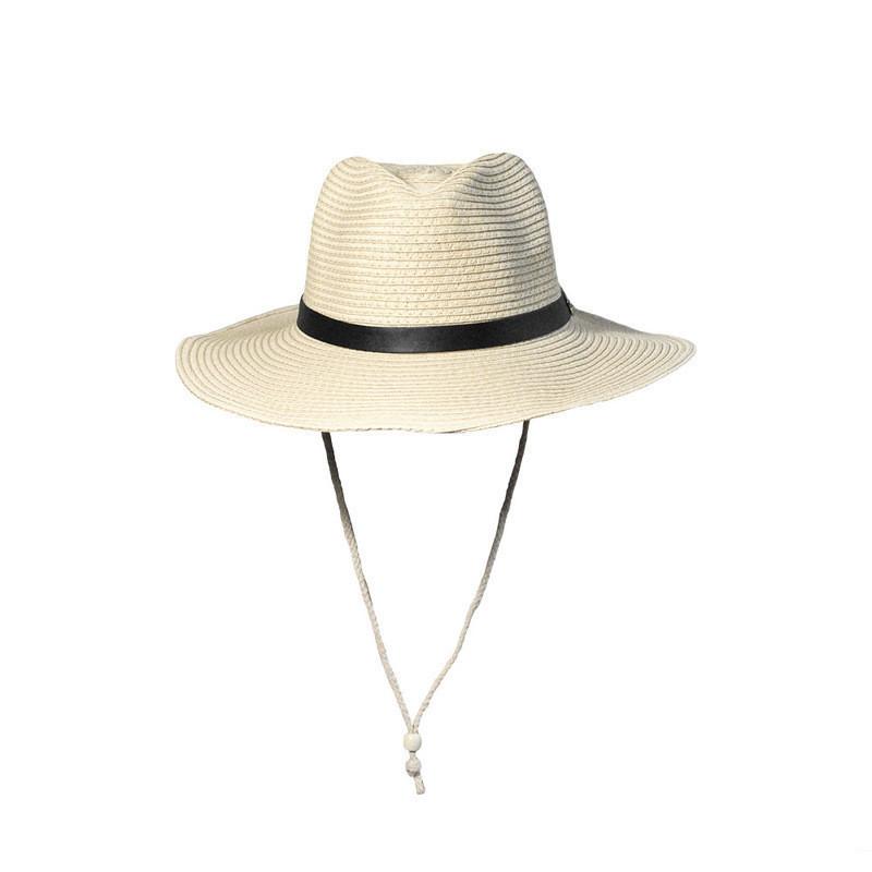 Ковбойская летняя шляпа мужская/женская бежевого цвета опт