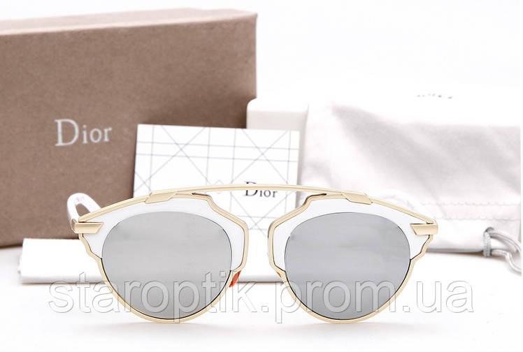 baf51c57dd27 Женские солнцезащитные очки Dior so real (Белые)  продажа, цена в ...