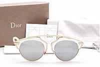 Женские солнцезащитные очки Dior so real (Белые), фото 1