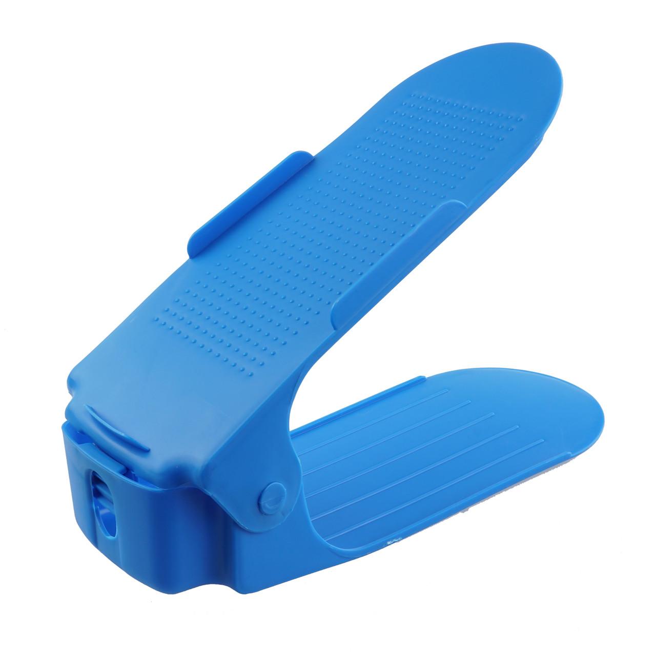 Двойная стойка для обуви голубой