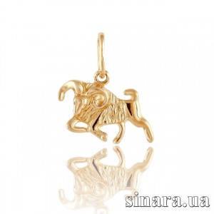 Золотая подвеска знак зодиака Овен 331