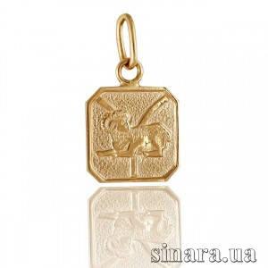 Золотая подвеска знак зодиака Овен 332