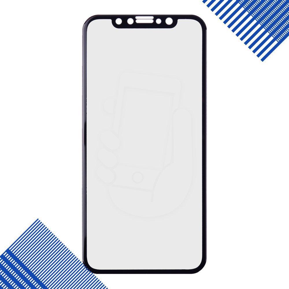 Защитное стекло iPhone X 5D, цвет черный