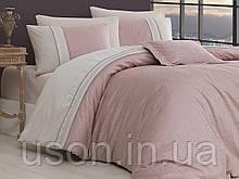 Комплект постельного белья сатин Moonlight first choice евро размер London pudra