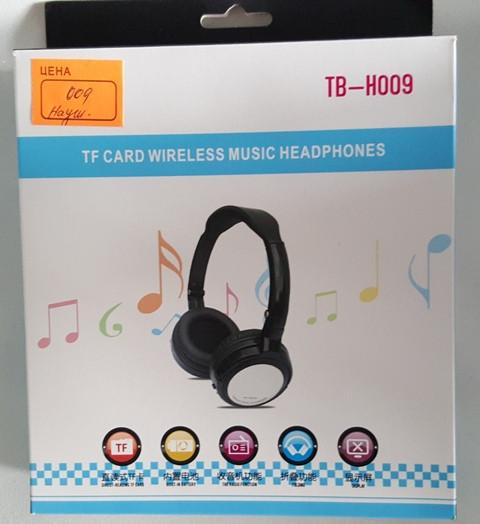 Беспроводные музыкальные наушники mp3 плеер  с TF card TB-H009