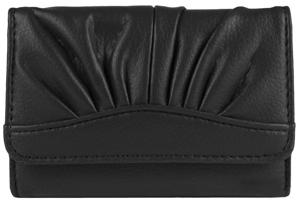 Красивый женский кошелёк чёрного цвета пр. Польша FF1