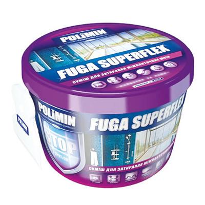 Затирка для швов Полимин Fuga SuperFlex белая (2 кг)