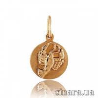 Золотая подвеска знак зодиака Рак 348