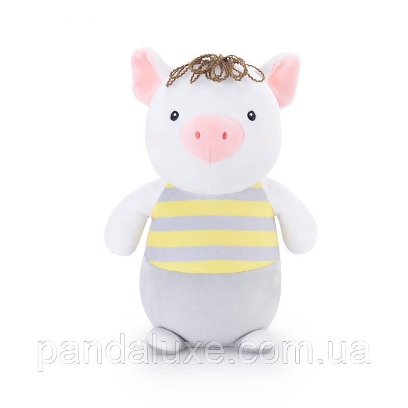 Мягкая велюровая игрушка маленький Поросенок в полосатом, 25см, фото 2