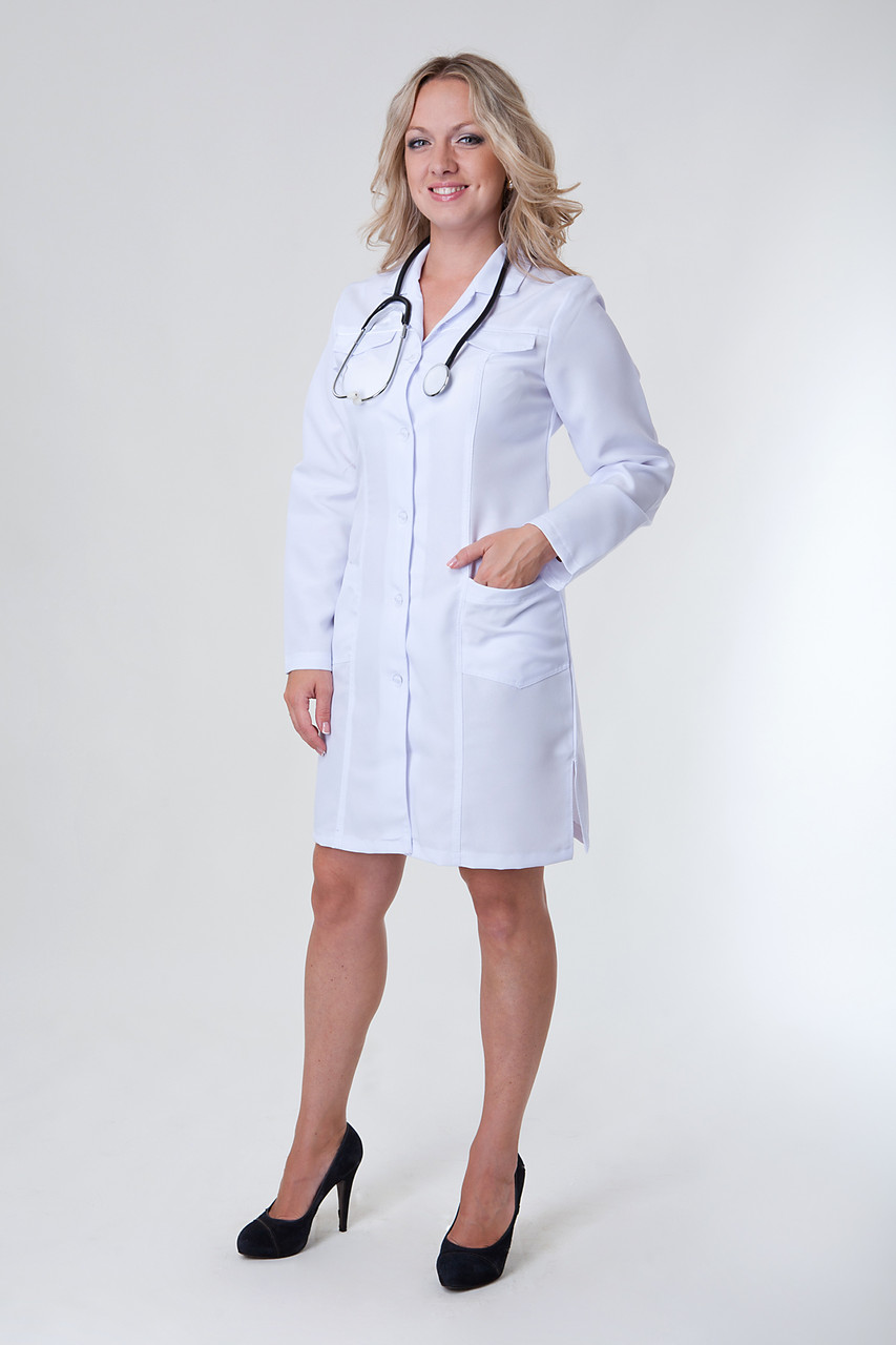 Медицинский женский халат 1123 (  габардин 40-52 р-р )