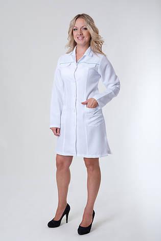 Медицинский женский халат 1124 ( габардин 40-52 р-р ), фото 2