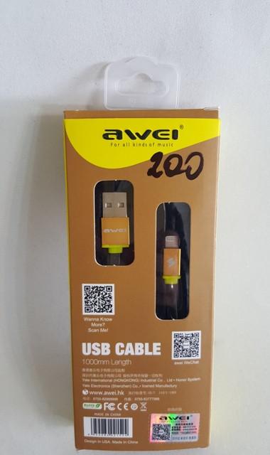 5 В / 2.4A Awei CL200 USB 2 в 1 синхронизация зарядное устройство для iPhone5G 5S 5C 6/6 плюс iPad iPod для An