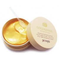Гидрогелевые патчи для глаз с золотом и улиткой Petitfee Gold & Snail Hydrogel Eye Patch, 1,4 g x 60 шт