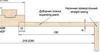 Доборная доска ПВХ 150мм