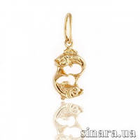 Золотая подвеска знак зодиака Рыбы 387
