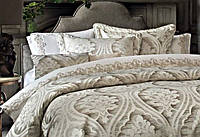 Покрывало,наволочки, подушка люксовая серия  набор из 5 предметов, Pepper home, Турция, claris gold